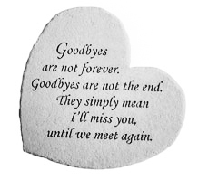 Goodbyes are not forever...