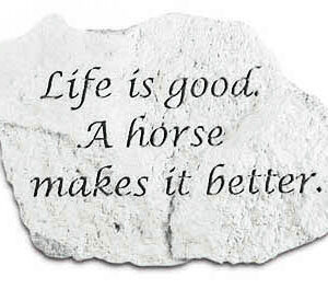 Life is good. A horse makes it better