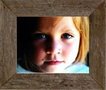 """Rustic 8"""" X 16"""" Barnwood Picture Frame (2"""")"""