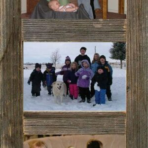 "Vertical Barnwood Panel Frame for (3), 4"" x 6"" Pictures"