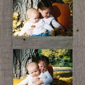 """Vertical Barnwood Panel Frame for (2) 5""""x 7""""pictures"""