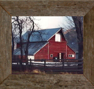 "Rustic Barnwood Picture Frame, 8"" x 10 "" picture, from ( 2"") barnwood."