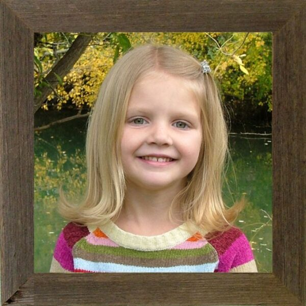 """10""""x 10"""" narrow (1.5"""") Barnwood Picture Frame"""
