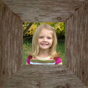 """8"""" x 8 """" Rustic Barnwood ( 3"""") wide Picture Frame"""