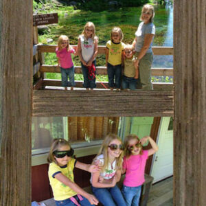 "Vertical Barnwood Panel Frame for (4) 5""x 7"" pictures."