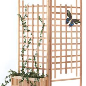 3 pc.Planter Set w/ Trellis Screen Panels