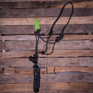 Solid Nose Band Rope Halter -Lime Green