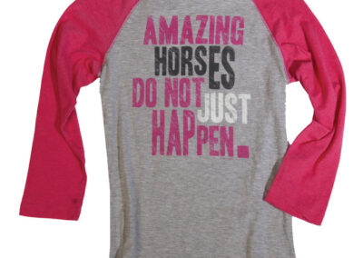 """Amazing Horses"" Baseball Tee"
