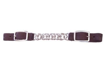 Jeffers® Nylon Curb - Single Chain - Brown