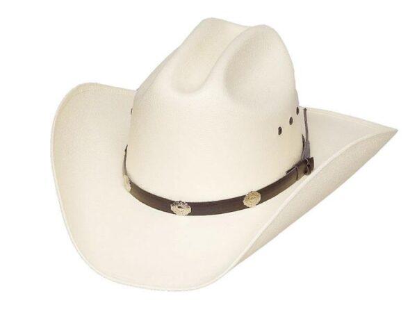 Cattleman Straw Hat, Silver Conchos