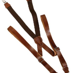 Brown Leather Suspenders