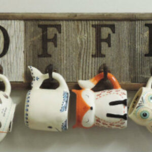 Horizontal COFFEE Mug Rack